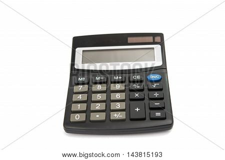 calculator arithmetic  financial  banking on a white background