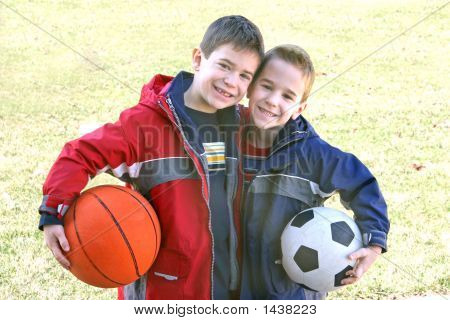 Boys With Sports Balls