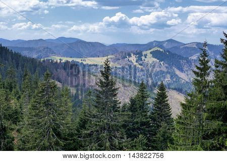 Landscape from Great fatra mountain range at Slovakia