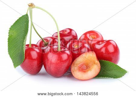 Cherries Cherry Fresh Summer Fruits Fruit Isolated On White