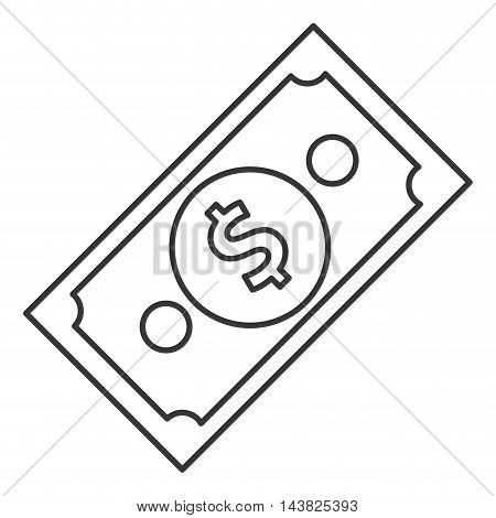 bill cash money finacial item icon. Flat and Isolated design. Vector illustration