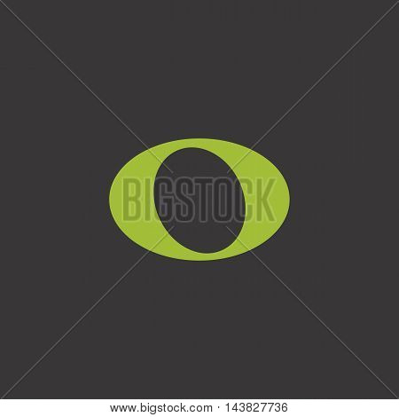 Whole music note vector icon, green on dark background