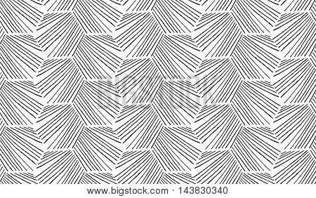 Hatched Diagonally Hexagonal Shapes