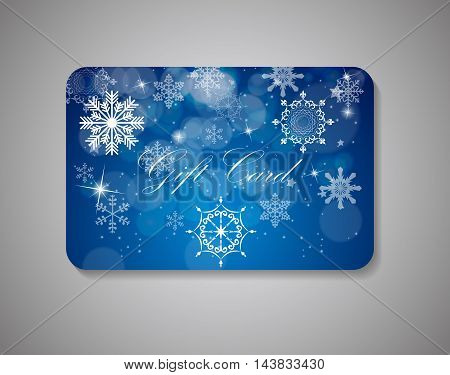 Beautiful Gift Card On Gray Background. Vector Illustration EPS10.