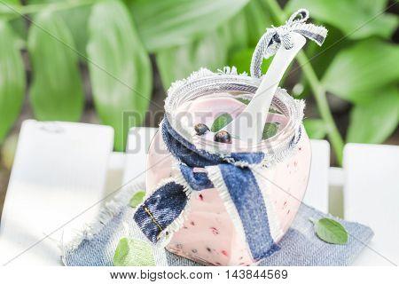 Yogurt Cocktail Black Currant Lemon Balm