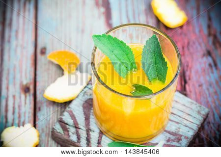 Summer Drink Orange Mousse Stevia