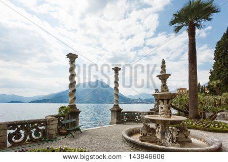 Varenna Italy - May 06 2016: The gate in a garden of Villa Monastero spring time