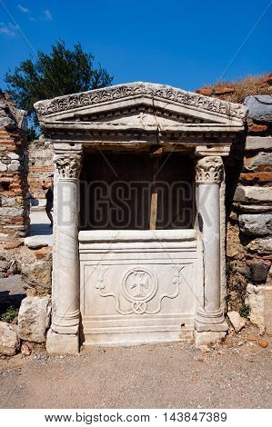 Part of Basilica, cupboard in Selcuk. Turkey
