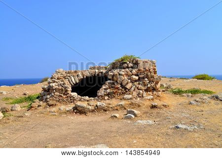 Rethymno city Greece Fortezza fortress ruins landmark