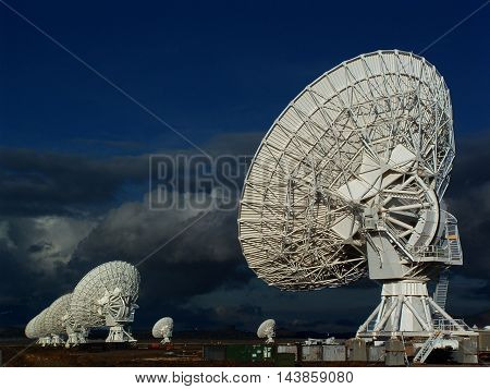 Very large array antennas in Socorro, New Mexico