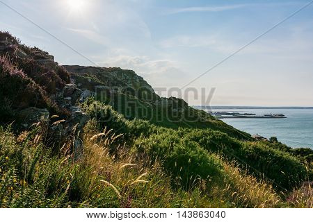 Howth Harbor Daytime Landscape Cliffside Nature Ireland