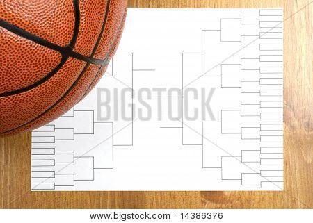 Basketball Tournament Bracket And Basketball