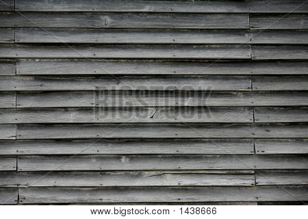 wooden wall on an abandonded building  poster