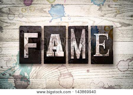 Fame Concept Metal Letterpress Type