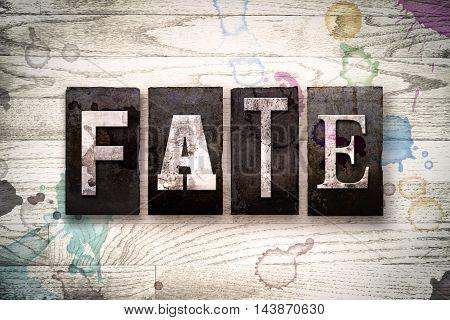 Fate Concept Metal Letterpress Type