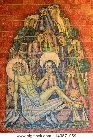 Lamentation Of Christ - Religious Painting In Fatima