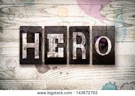 Hero Concept Metal Letterpress Type