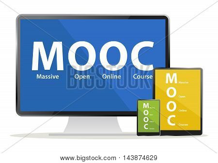 Mooc (Massive Open Online Courses) devices for e learning