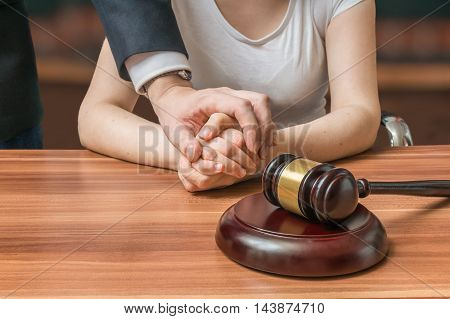 Advocate Or Lawyer Defends Accused Innocent Woman. Legal Help An