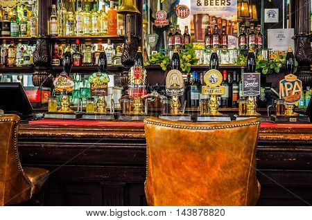Cask Beers In London (hdr)