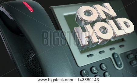 Telephone On Hold Waiting Bad Customer Service 3d Illustration