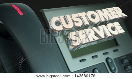 Customer Service Support Call Telephone Words 3d Illustration