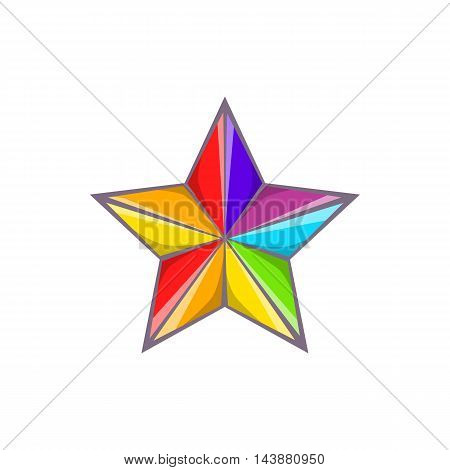 Star in colours of LGBT icon in cartoon style isolated on white background. Tolerance symbol