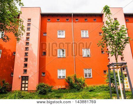 Hufeisen Siedlung In Berlin (hdr)