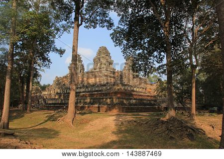 Ta Keo a temple-mountain built of sandstone in Cambodia