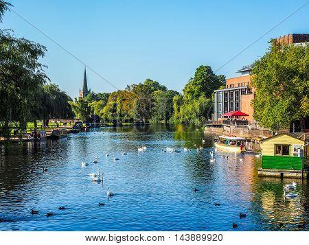 River Avon In Stratford Upon Avon (hdr)