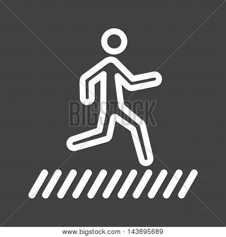 People, crossing, zebra icon vector image. Can also be used for people. Suitable for mobile apps, web apps and print media.