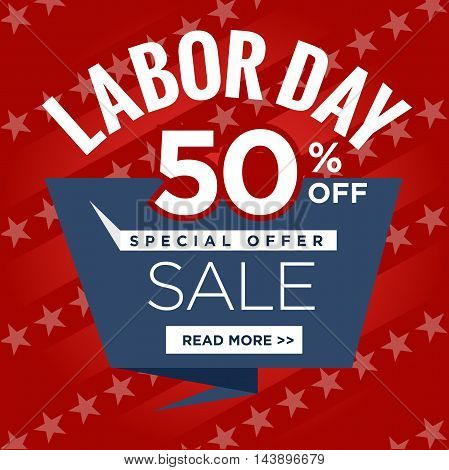 Labor Day Super Sale Sign Call to Action poster