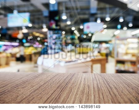 Supermarket Background Product Retail shop display Table Top Mock up