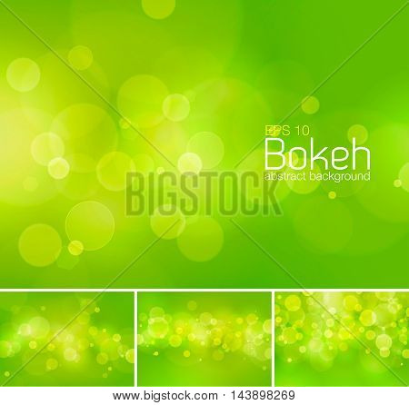 Bokeh and blur vector abstract background series. Suitable for your design element or web background