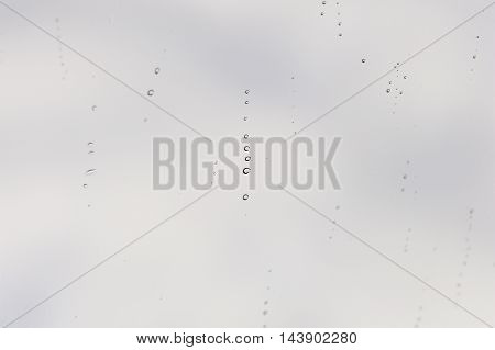 Rain Drops Sticking To Manmade Materials, Textures And Patterns.