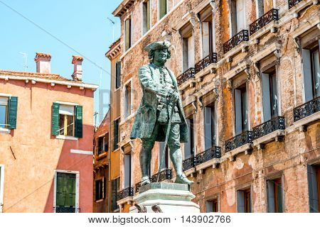 Daniele Manin national hero statue in Venice