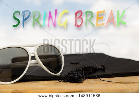 Sunny Background With The Word Spring Break