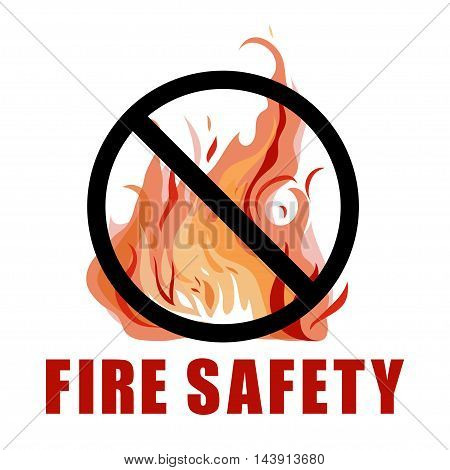 No fire vector sign isolated on white.