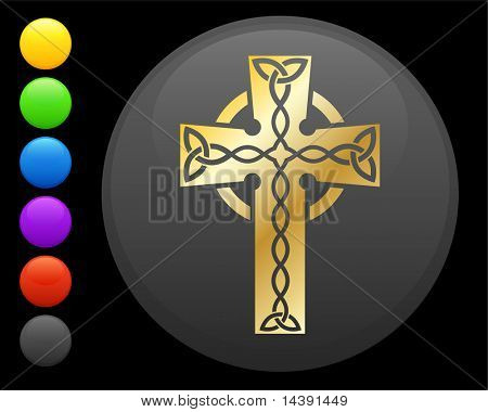 Golden Celtic cross Original vector icon. Six color options included.