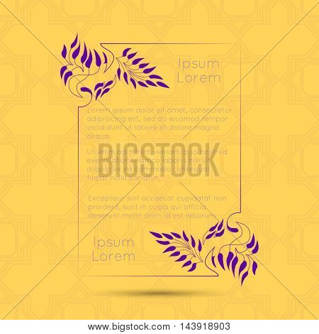 Border designs vector photo free trial bigstock border designs for greeting cards template design for invitation menu labels poem m4hsunfo