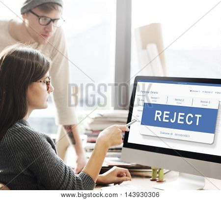Reject Entry Pending Waiting Approved Concept