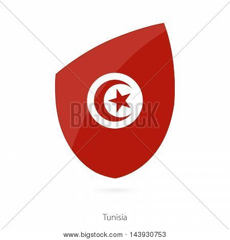 Flag Of Tunisia. Tunisian Rugby Flag.