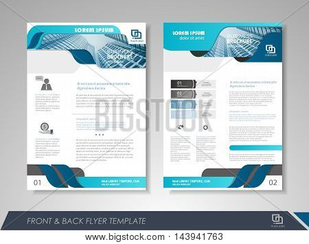 Front Back Page Brochure Template Vector Photo Bigstock - 1 page brochure template