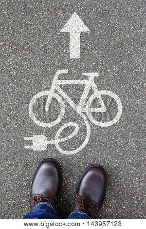 Man People E-bike E Bike Ebike Electric Bike Bicycle Eco Friendly