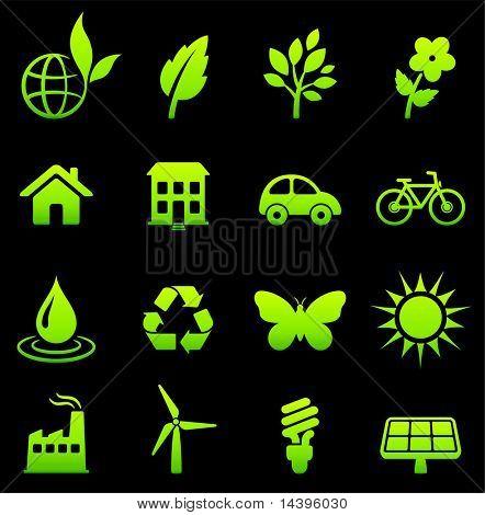 Environmental Nature Icons Collection Original Vector Illustration