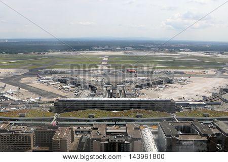 Frankfurt Airport Terminal 1 Aerial Photograph