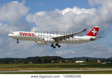 Swiss Air Lines Airbus A330-300 Airplane Zurich Airport