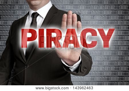 piracy with matrix is shown by businessman.