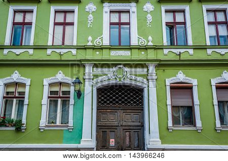 Tenement house in Brasov city in Romania