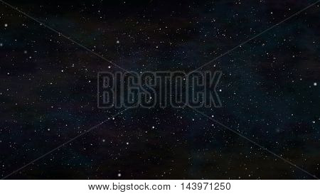 Beautiful starscape in a colorful space background.